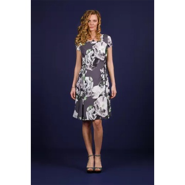 Zwiewna grafitowa sukienka...