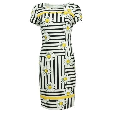 Biała sukienka w żółte...