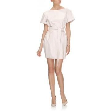 Kremowa mini sukienka z...
