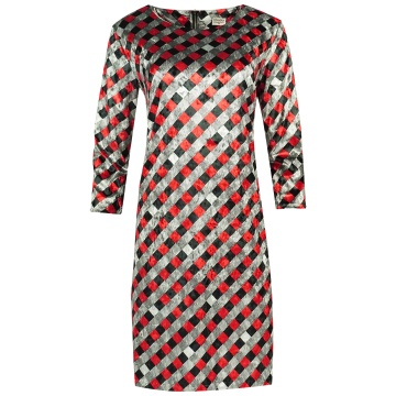 Sukienka z weluru, w...