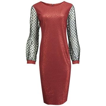 Bordowa ołówkowa sukienka,...