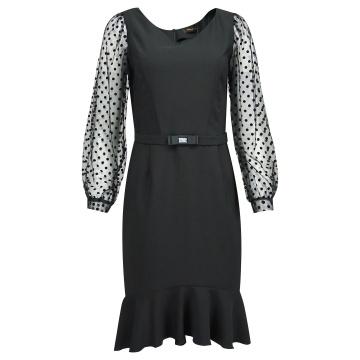 Czarna ołówkowa sukienka,...