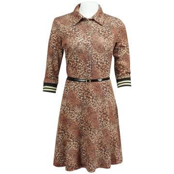 Brązowa sukienka szmizjerka...