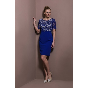 Kobaltowa wizytowa sukienka...