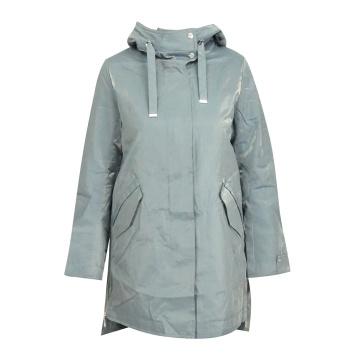 Niebieski krótki płaszcz...