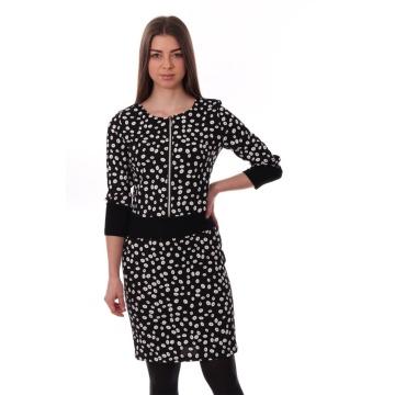 Czarna sukienka w białe...