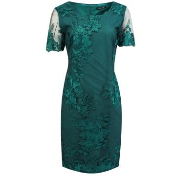 Zielona wizytowa sukienka w...