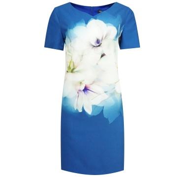 Niebieska sukienka w...