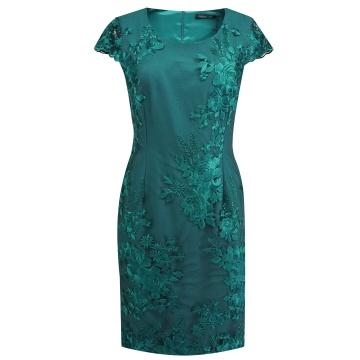 Zielona ołówkowa sukienka w...