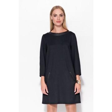Czarna tunika sukienka z...