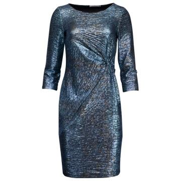 Granatowa wizytowa sukienka...