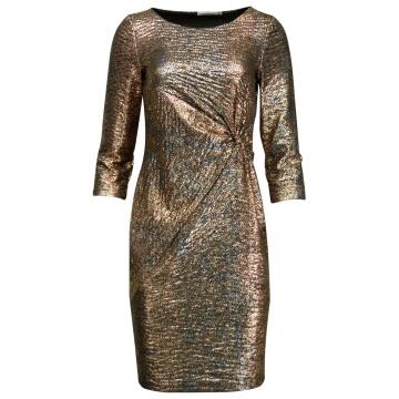 Złota wizytowa sukienka z...