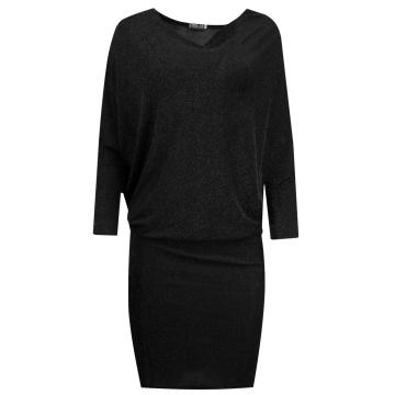 Sukienka czarna błyszcząca