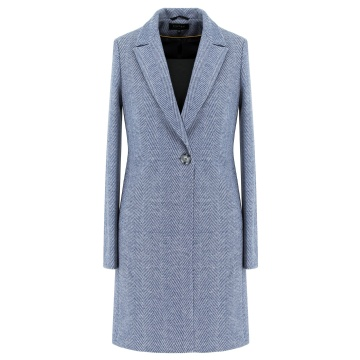 Niebieski płaszcz damski Nela