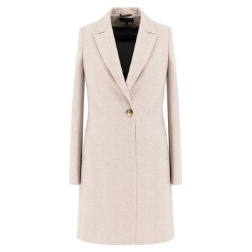 Beżowy płaszcz damski Nela