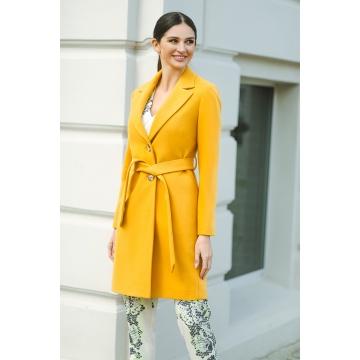 Żółty płaszcz damski Livia
