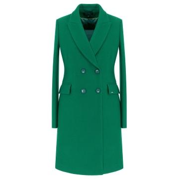 Zielony płaszcz damski Karen