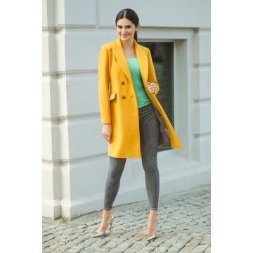 Żółty płaszcz damski Karen