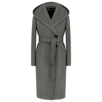 Zimowy płaszcz damski z...