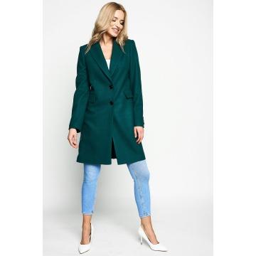 Zielony płaszcz damski z...