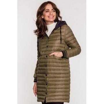 Zielona pikowana kurtka...