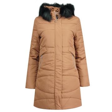 Ruda zimowa pikowana kurtka...