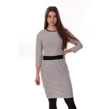 Biała sukienka w czarne...