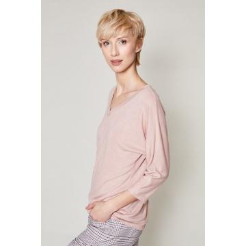 Różowa bluzka damska z...