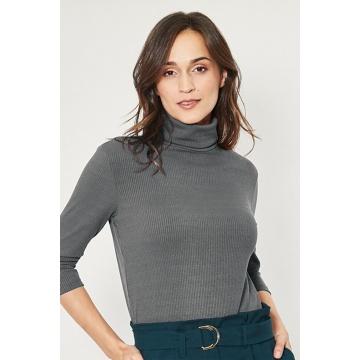 Grafitowa bluzka damska...