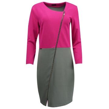Różowo-szara sukienka...