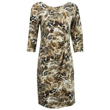 Brązowa wygodna sukienka  z...