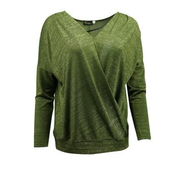 Zielona luźna bluzka damska...