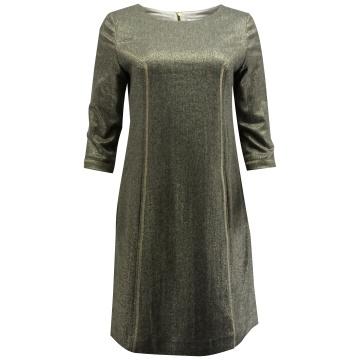 Brązowa sukienka z wełny z...