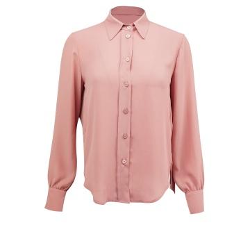 Różowa koszulowa bluzka...