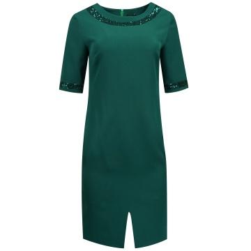 Zielona wizytowa sukienka...