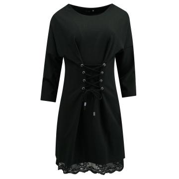 Czarna sukienka z koronką,...