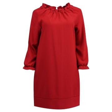 Amarantowa sukienka z...