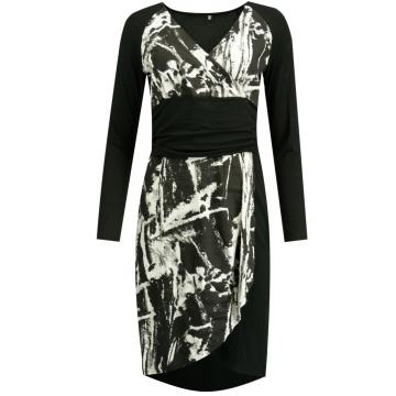 Sukienka czarno-biała