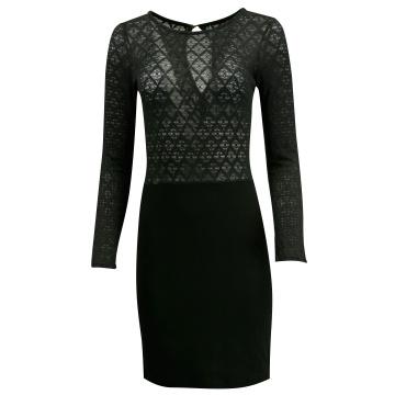Sukienka czarna z koronką,...