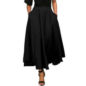 Długa czarna spódnica z...