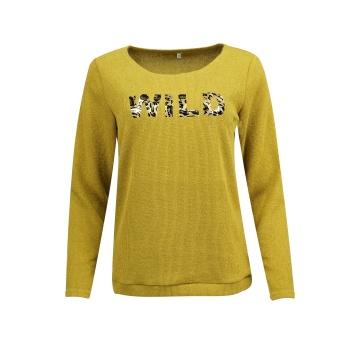 Miodowy sweter damski z...