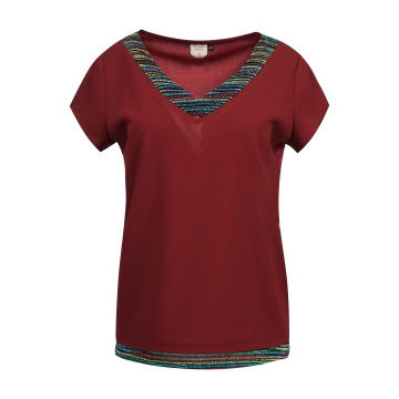 Bordowa bluzka damska  131