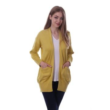 Żółty kardigan sweter...