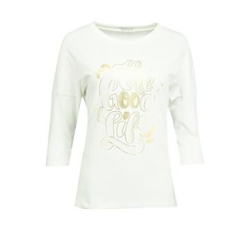 Biała bluza damska z wzorem...
