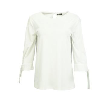 Biała welurowa bluza damska...