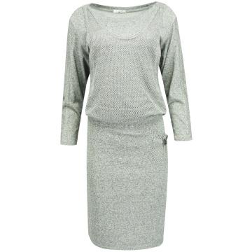 Dzianinowa szara sukienka z...