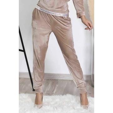 Spodnie damskie z weluru...