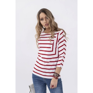 Czerwona bluzka damska w...