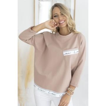 Beżowa bluzka damska z wiskozy