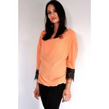 Pomarańczowa bluzka damska...